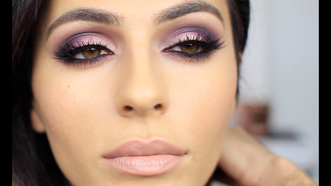 Purple   Pink Smoky Eye Makeup | Eye Makeup Tutorial | Teni ...
