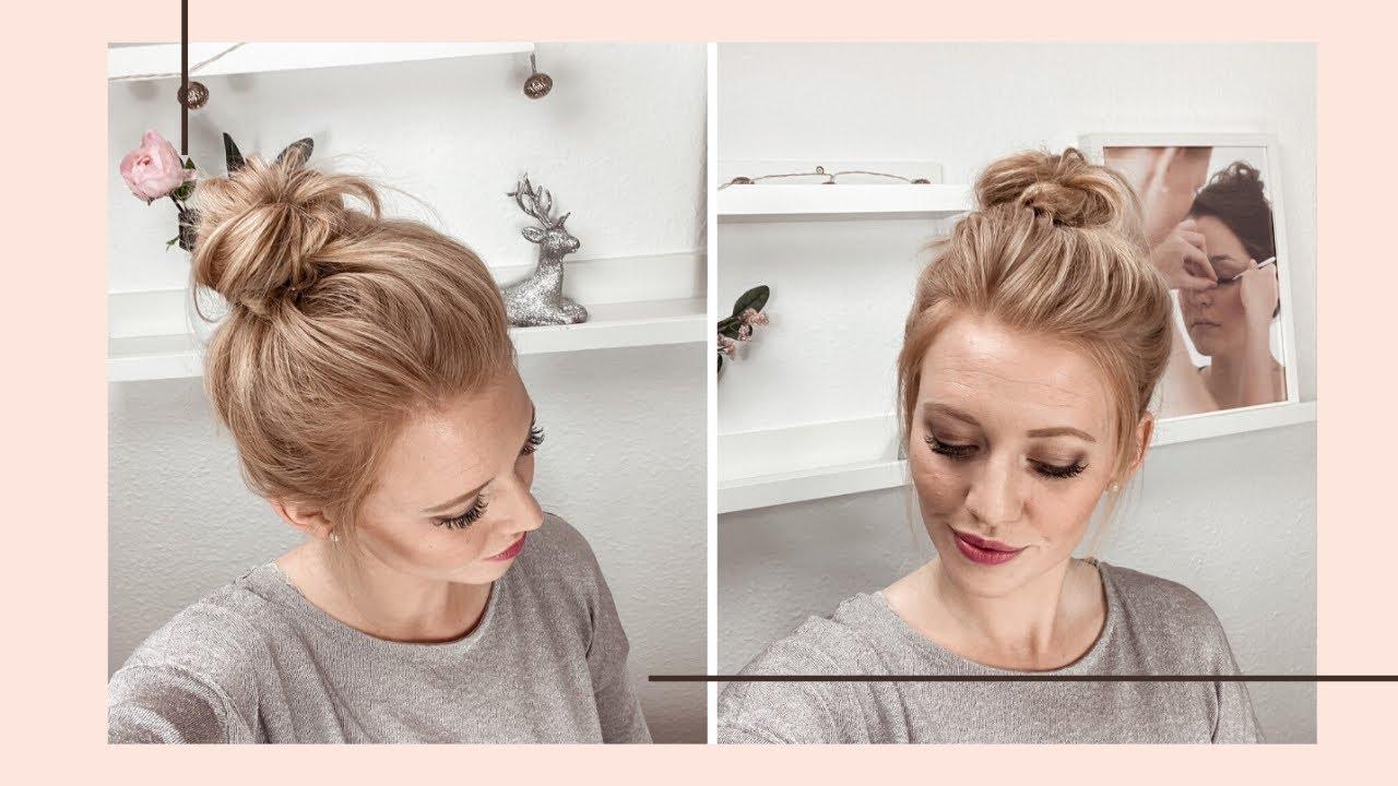 #dutt #frisur #longbob Einfacher schöner Dutt für kurze bis lange Haare /  Messy bun hair tutorial