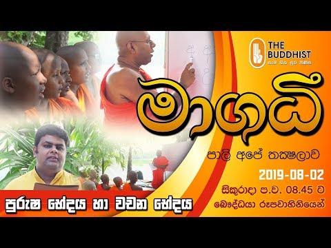 Maagadhi - මාගධී (පාලි අපේ තක්ෂලාව) | 2019-08-02 | 8.45 PM