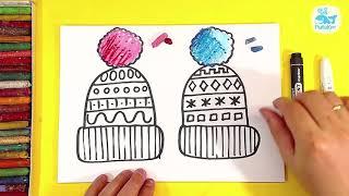 Рисуем ЗИМНЮЮ ШАПКУ / урок рисования для детей