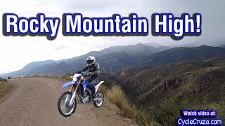 MotoVlog Up Scary Mountain - Garden of Gods - Free Water - Boondocking | Moto Van Life