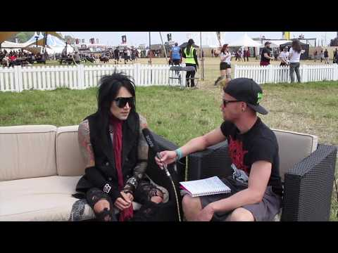 Interview with Ashley Purdy of Black Veil Brides at Download 2018 | RAMzine