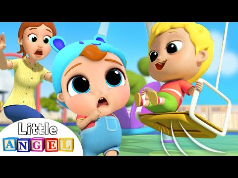 Be Safe at the Playground | Little Angel Nursery Rhymes and Kids Songs