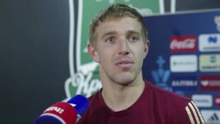 Юрий Газинский: ещё не считаю себя основным игроком сборной