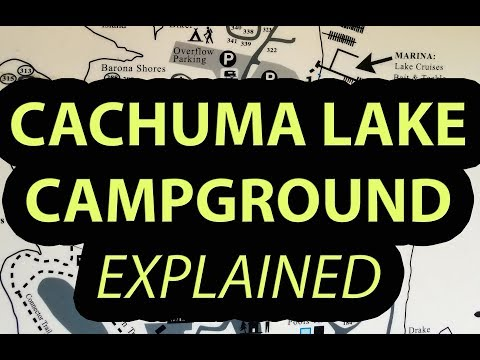 Cachuma Lake Santa Barbara County Campground, California Explanation of Map, Features