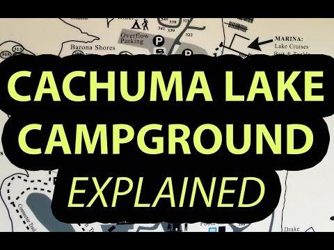 Cachuma Lake Santa Barbara County Campground, California Explanation Of Map, Features