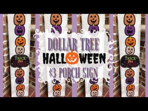 HALLOWEEN PORCH SIGN   DOLLAR TREE DIY