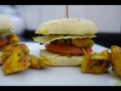 batbout-au-poulet-mariné-façon-burger-|-recette-très-facile