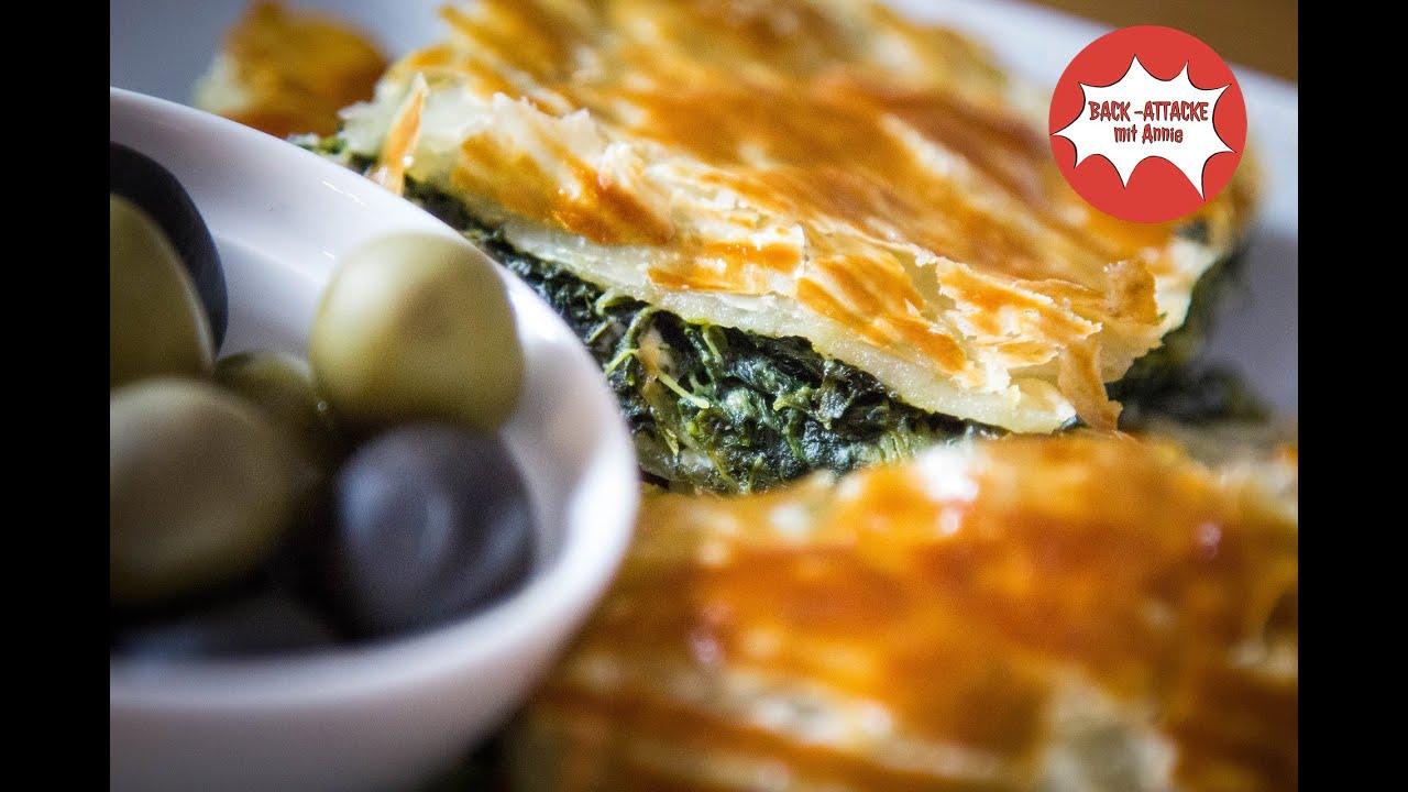 Griechisches Fingerfood: Spinat Pita BACK ATTACKE mit Annie