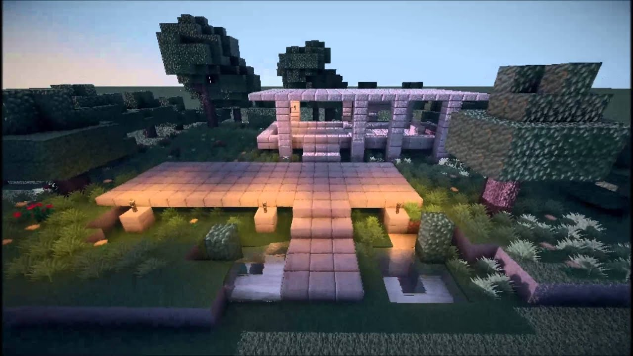 cinematic farnsworth house minecraft youtube