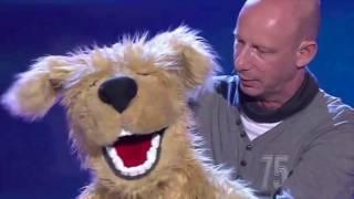 Bauchredner Benjamin Tomkins und Hund Chico