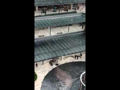 Así se vivió la balacera al interior de la plaza Artz Pedregal