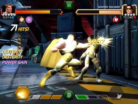 5* Hyperion R3 4 minute kill on winter soldier RoL. (Mcoc Contest of champions)