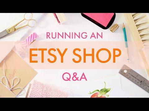 Running an Etsy Shop Q&A