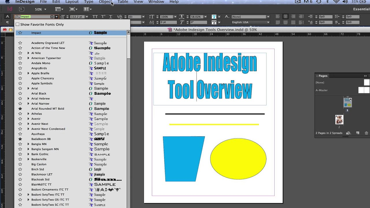 Adobe Indesign CC Tutorial - Basic Rundown of Design Tools and ...