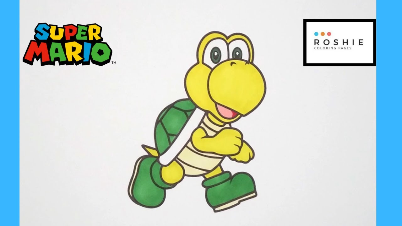 Sports coloring: Koopa Troopa Coloring Pages To Print | Coloring ... | 720x1280