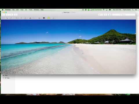 MacBook Preview Image Editing