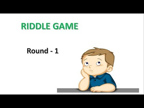 Riddle Game -  Round 1 | Test your brain | Let's Learn