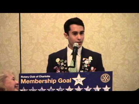 Charlotte Rotary Club Exchange Student UpDate April 16 2013