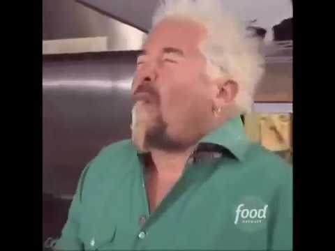 Guy fieri backwards eating