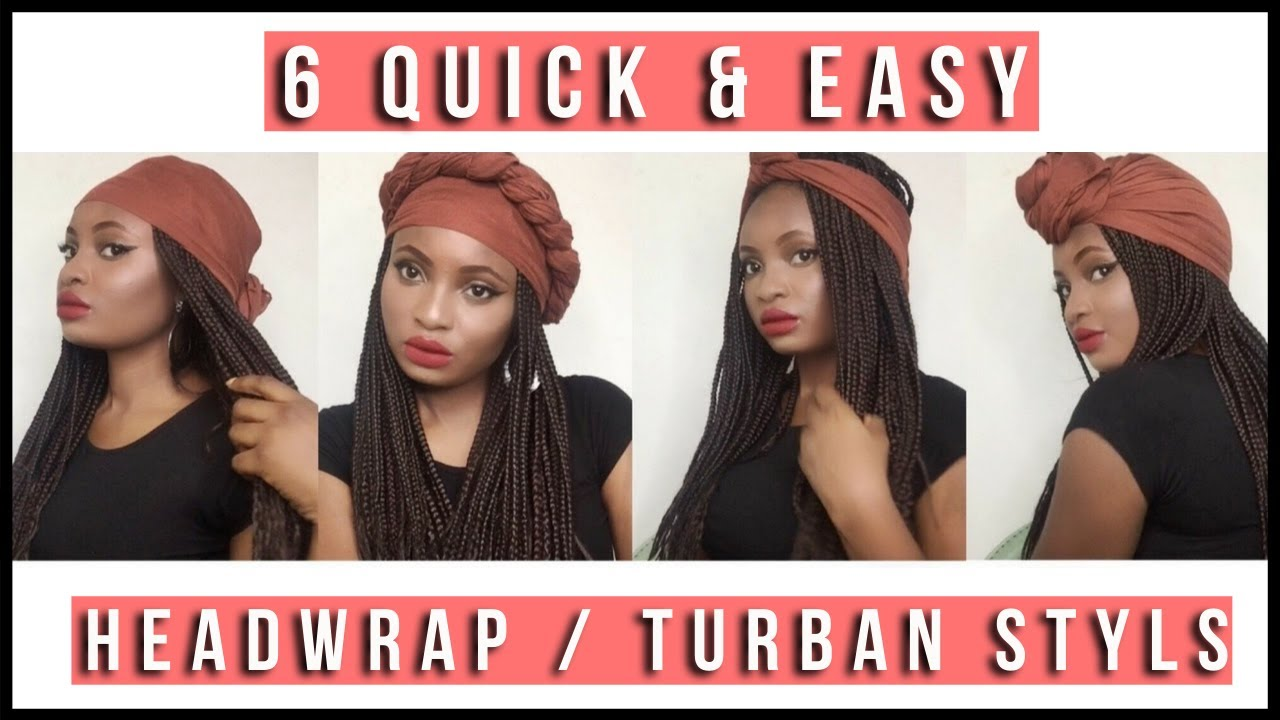How to tie a cap with braids
