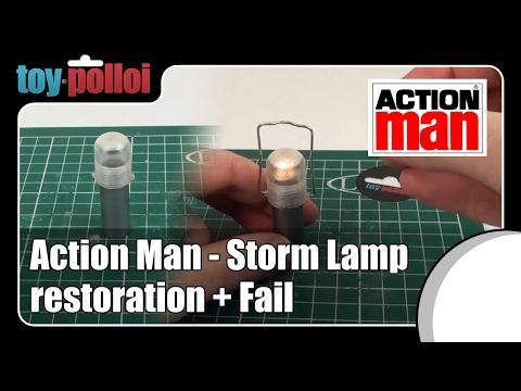 Fix it guide - Action Man Storm Lamp restoration + Fail