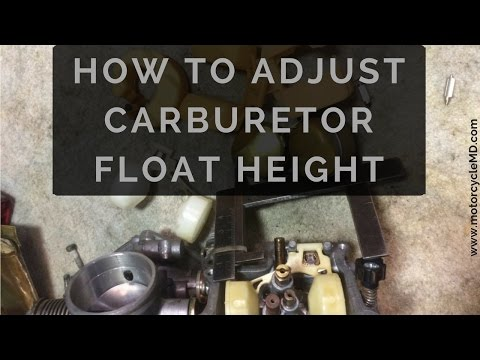 Carburetor Float Height Adjust/Check