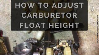 Carburetor Float Height Adjust/Check