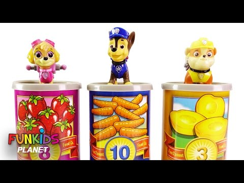 Thumbnail: Learning Colors Video For Kids: Paw Patrol Skye & Chase Learn to Count One To Ten Counting Cans