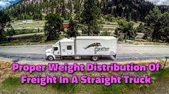 Expediter Team ~ Proper Weight Distribution Of Freight In A Straight Truck