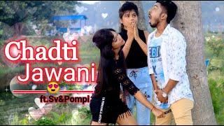 Download lagu Chadti Jawani Teri||Cute Romentic Funny Love Story||Young College age love Proposal ||Ft.Sv & Pompi