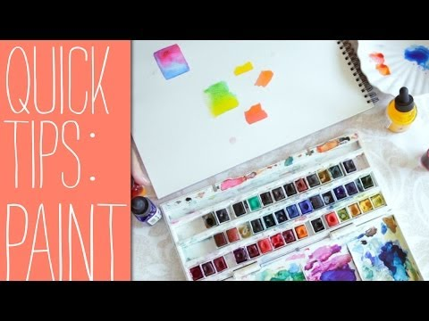 Quick Tips for Beginners Watercolor Paints