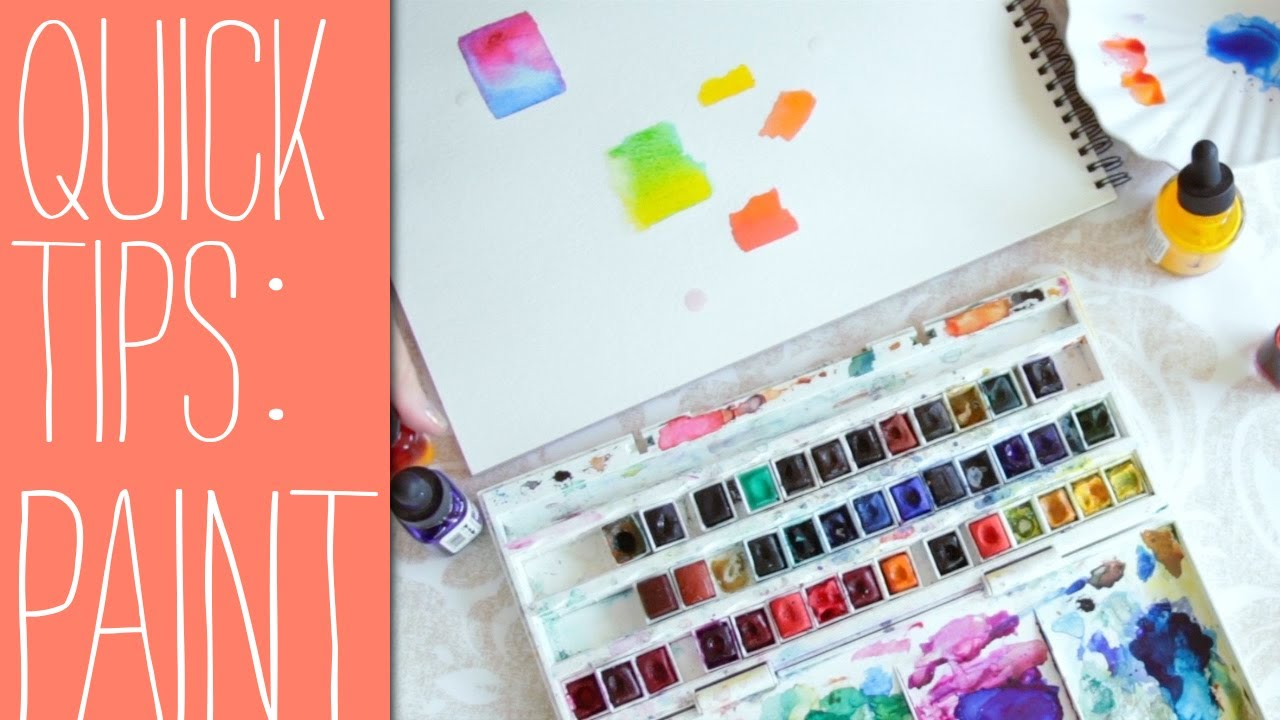quick tips for beginners watercolor paints youtube