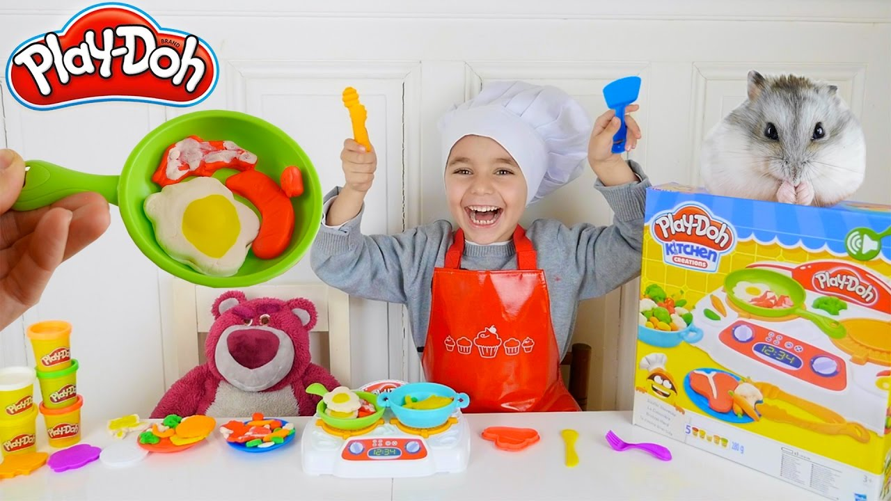 jeu la cuisini re play doh swan cuisine pour des invit s surprises p te modeler youtube. Black Bedroom Furniture Sets. Home Design Ideas