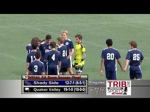 WPIAL Boys Soccer Class 2-A Championship - Shady Side Academy vs Quaker Valley