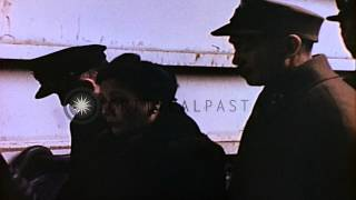 Generalissimo and Madam Chiang Kai Shek visit U.S. Navy LST-1050 in China...HD Stock Footage