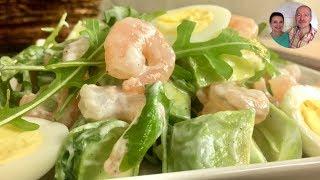 Новогодний Фитнес Салат! Салат с Креветками и Авокадо!