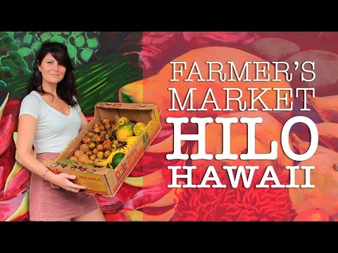 🍍Hilo Hawaii Farmers Market Tour + Prices | Tropical Fruits & Crafts