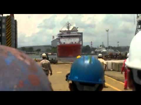 Anchor Handling Tug (AHT) supply vessel launching at Singapore
