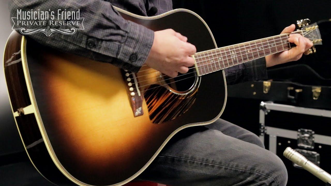 gibson 2016 j 45 custom slope shoulder dreadnought acoustic electric guitar vintage sunburst. Black Bedroom Furniture Sets. Home Design Ideas
