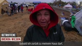 Kalifornien: Sie flohen vor dem Feuer, jetzt kommt der Regen