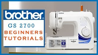 Class 26 - How to use the sewing machine [BROTHER GS2700] - for beginners Part 2