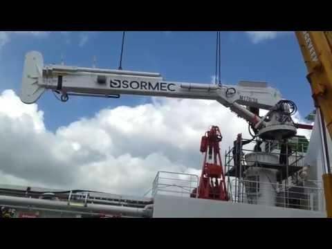 Sormec Offshore Telescopic Crane  M170 3S Installation