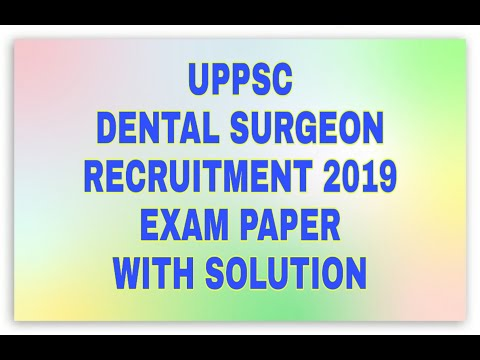 UPPSC Dental Surgeon Recruitment 2019 Exam Paper with solution | general studies |  Dental Maestro