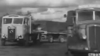 1 of 2; 1952 BRS Haulage Film: Atkinson Wagon & Drag Trailer