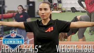 Britt Johnson Puts Her NFL Combine Skills To The Test! | Press Pass