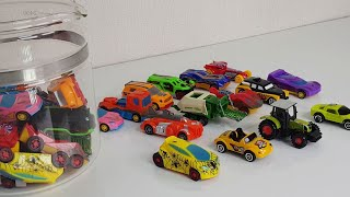 Toy Cars in a Big bottle 유리병 속…