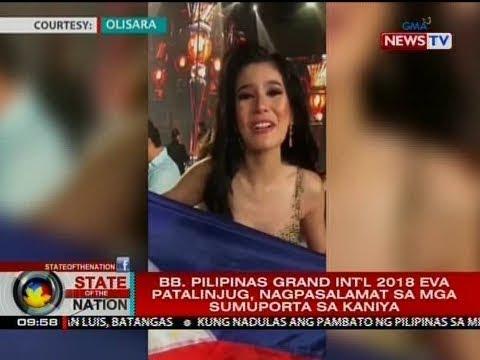 SONA: Bb. Pilipinas Grand Int'l 2018 Eva Patalinjug, nagpasalamat sa mga sumuporta sa kaniya