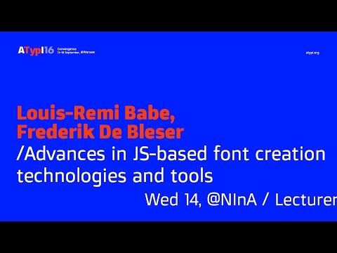 Advances in JS-based font creation technologies and tools