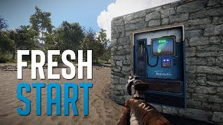QUICK START ON WIPE DAY! - Rust SOLO Survival